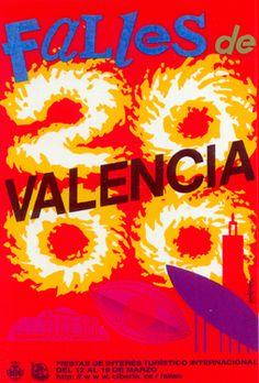 Cartel Fallas de Valencia 2000. Diseño: Rafael Contreras Juesas.