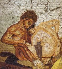 Satyr and Nymph House of the Faun (Pompeii mosaic)