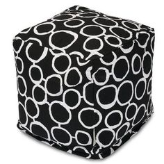 Majestic Home Goods Fusion Cube Ottoman Upholstery Color: Black