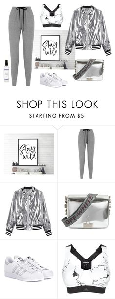 """""""Stay wild"""" by nejcka ❤ liked on Polyvore featuring Markus Lupfer, Sans Souci, Off-White, adidas Originals, adidas and The Laundress"""