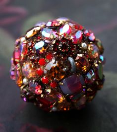 Vintage Crystals Rhinestones Ball Orb Sphere Encrusted Jewelry