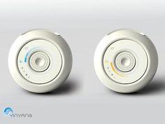 Yin Yang aire acondicionado cuenta con flujo de aire ajustable, 360 grados Tuvie | http://www.tuvie.com