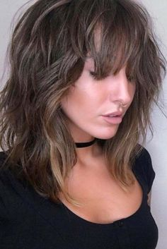 36 Stunning Hairstyles & Haircuts with Bangs for Short, Medium Long Hair - Lange Haare Ideen Medium Long Hair, Long Hair With Bangs, Wavy Hair, Short Hair Cuts, Medium Hair Styles, Short Hair Styles, Straight Bangs, Hair Bangs, Medium Blonde