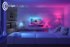 Meet the best smart lights with Alexa and Apple HomeKit support, from Philips Hue, Lifx, Ikea and Bedroom Lighting, Home Lighting, Phillips Hue Lighting, Philips Hue App, Led Stripes, Home Tech, Home Gadgets, Room Lights, Home Automation