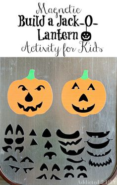 Magnetic Build a Jack-O-Lantern Activity for Kids Create this simple and fun activity for your little ones using Silhouette Printable Magnet Paper and your Silhouette Portrait or Cameo.
