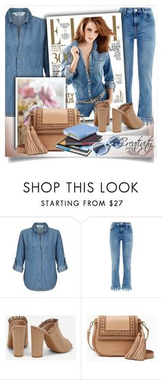 """""""Denim look"""" by creativity30 ❤ liked on Polyvore featuring Miss Selfridge, Maje, Kate Spade and Pinko"""