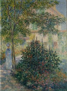 Camille Monet in the Garden at Argenteuil Claude Monet (French, Paris Giverny) Date: 1876 Medium: Oil on canvas. Monet is and always will be my favorite artist. How is he so able to create a beautiful picture from blobs of paint strokes. Monet Paintings, Impressionist Paintings, Landscape Paintings, Claude Monet, Artist Monet, Pierre Auguste Renoir, Edouard Manet, Oil Painting Reproductions, Fine Art