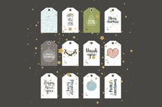 Christmas tags by Tatiana Karpenko on Creative Market