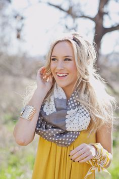 love this scarf & the yellow with gray