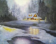 *Winter Wonderland* Snowy Winter Landscape Oil Painting