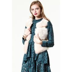 Storets Not A Real Faux Fur Vest (115 BGN) ❤ liked on Polyvore featuring outerwear, vests, faux fur waistcoat, storets, faux-fur vests, fake fur vest and vest waistcoat