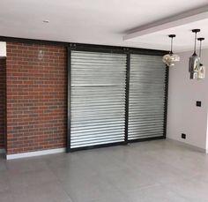 Installed steel sliding doors Sliding Doors, Garage Doors, Divider, Steel, Outdoor Decor, Room, How To Make, Furniture, Home Decor