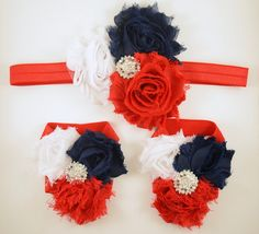 4th of July  Red White and Blue Headband and by scarletsshoppe, $18.00