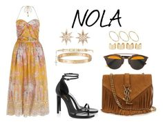 """""""NOLA"""" by anaelle2 ❤ liked on Polyvore featuring Christian Dior, Zimmermann, Yves Saint Laurent, Cartier, Givenchy, ASOS and Maison Margiela"""