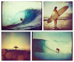 Image via We Heart It https://weheartit.com/entry/28667579/via/890681 #beach #blue #color #girl #happiness #photo #photos #polaroids #summer #surf #surfer #surfing