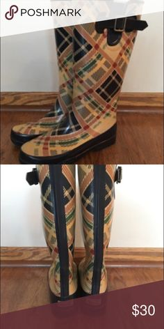 Sperry topsider rain boots plaid Like new. Size 7 Sperry Top-Sider Shoes Winter & Rain Boots