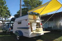 Here is a great condition Trailorboat trailer, with an interesting awning.