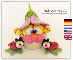Osterküken,+Kuiken,+chick,+pdf+Häkelanleitung+von+mala+designs+auf+DaWanda.com