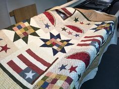 This is another quilt that was pieced (the top part was put together by someone else) and I quilted it