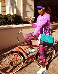 Serena Williams Cambia el auto por la bici