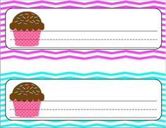 "Cupcake Name Plates...perfect for your ""sweets"" themed classroom! Available at my TPT store!"