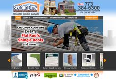 Newly redesigned website for Second City Roofing.