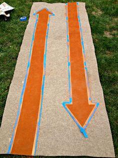Custom Painted Runner Rugs {Garage Mudroom Makeover} | East Coast Creative Blog