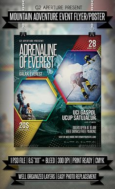 Mountain Adventure Event Flyer / Poster