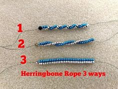 Jewelry Necklace Design How to achieve more spirals on Herringbone rope Beaded Jewelry Patterns, Bracelet Patterns, Beading Patterns, Seed Bead Tutorials, Beading Tutorials, Diy Jewelry Tutorials, Seed Bead Jewelry, Bead Jewellery, Seed Beads