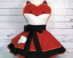 Fox Womens Woodland Fairytale Apron by Dots Diner