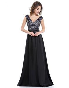 1a6d4ffca -dlouhé černé společenské šaty s krajkou Linda M - Hollywood Style E-Shop  Šaty