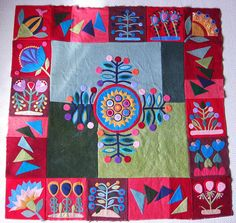 Sue Spargo wool quilt by flossyblossy, via Flickr