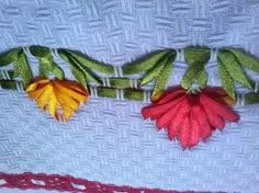Discover thousands of images about Vagoneti Ribbon Art, Silk Ribbon, Swedish Embroidery, Lost Art, Ribbon Embroidery, Fabric Flowers, Sewing Hacks, Fiber Art, Needlework