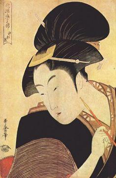 Kitagawa Utamaro. Secret love