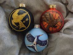 Hunger Game trilogy ornaments :)