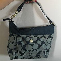 COACH shoulder bag Coach shoulder bag with small, minor tear on backside. Coach Bags Shoulder Bags
