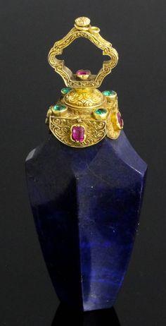 antique parfun tapa de oro
