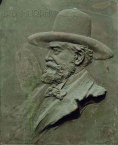 Haig Patigian - Portrait of B. D. Murphy, Bronze plaque, 19th Century California, Figure/Portrait/Genre, Early California, American, American