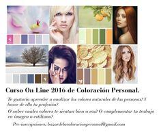 Curso on line 2016 de Coloración Personal. El más completo e innovador sistema de análisis estacional en Argentina. Ideal para asesoras de imagen, estilistas de moda, maquilladoras y amantes de la belleza en general.