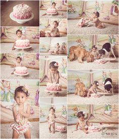 Gorgeous cake smash photography in the baby's nursery at home in Johannesburg photographed by award winning portrait photographer Emma O'Brien