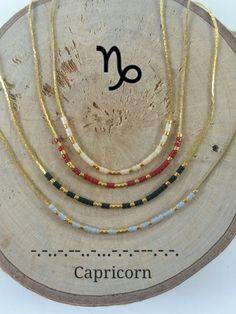 CAPRICORN Morse Code necklace, CUSTOM morse code, Secret Message, Dainty necklace, Personalized, Morse code jewelry, Birth necklace,BFF Gift de KukanaJewelry en Etsy