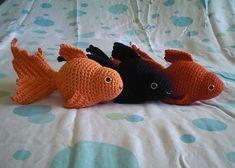 Free pattern Ravelry: Fancy Goldfish Amigurumi pattern by Kate Wood.