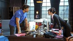 Tom Welling (Clark Kent) & Erica Durance (Lois Lane)  in 'Smallville' (Homecoming Episode)
