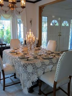 Lace and candles...♥