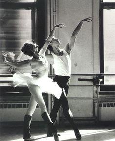 Julie Kent and Robert Hill rehearsing