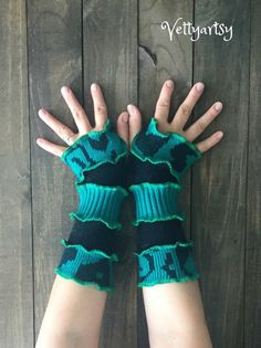 Fingerless Gloves made from Recycled Knit Sweaters by Vettyartsy