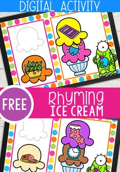 Rhyming Activities, Kindergarten Activities, Classroom Activities, Learning Activities, Language Activities, Phonological Awareness, Seesaw, Kindergarten Reading, Humor