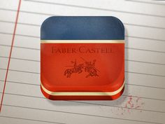 Dribbble - Faber-Castell Eraser by Saturized
