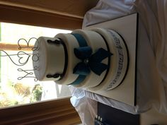 """Musical wedding cake. """"Their song"""" on the bottom tier. (That's cake ABQ/ Facebook)"""