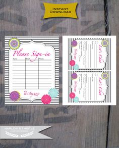 INSTANT DOWNLOAD  Thirty-One Gifts Party items by HarlowAndThistle